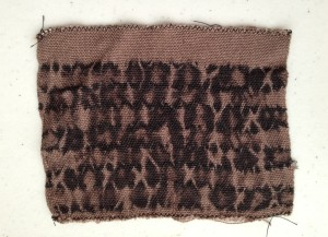 Bleached Shibori Sample with pattern threads removed.