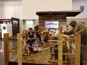 CHH  weaving & spinning demonstrations at rodeo