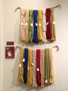 Natural dyed Churro yarn