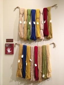 Natural dyed Churro yarn