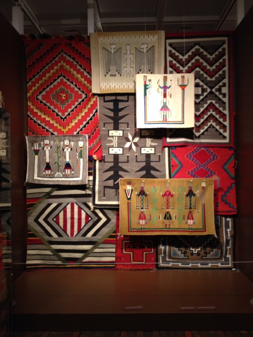 Navaho weavings. Stark Museum.