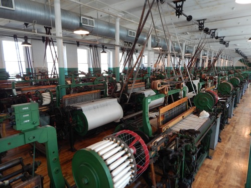Boott Cotton Mills 1920's weave room