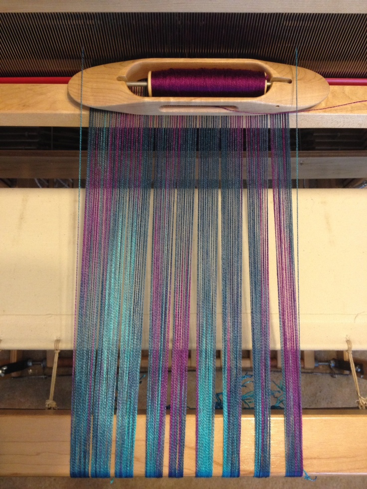 Hand Painted warp for  scarf