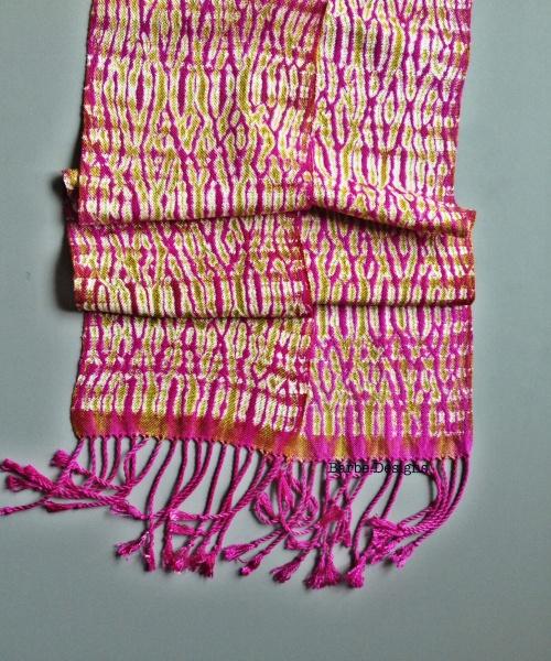 Boysenberry Handwoven Shibori