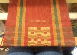 Another rep motif  woven