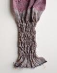 Crimp quilt metallic weft