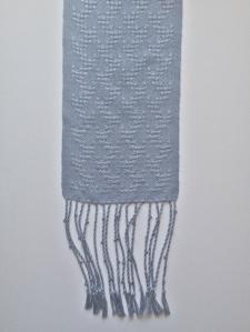 Silver grey huck scarf